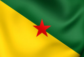 Flag of French Guiana — Stock Photo