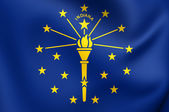 Vlag van indiana, usa. — Stockfoto