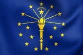 Flag of Indiana, USA.  — Stock Photo
