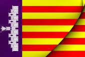 Flag of Majorca, Spain.  — Stock Photo