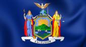 Vlajka státu new york, usa. — Stock fotografie