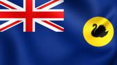 Flag of Western Australia — Stock Photo