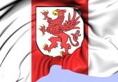 Flag of West Pomeranian Voivodeship, Poland.  — Stock Photo