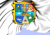 Flag of Tamaulipas, Mexico.  — Stock Photo