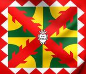 Flag of Huesca City, Spain.  — Stock Photo
