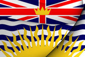 Flag of British Columbia, Canada.  — Stock Photo