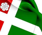 Flag of Aldtsjerk, Netherland. — Stock Photo