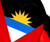 Flag of Antigua and Barbuda — Stock Photo
