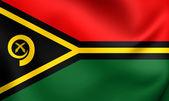Vanuatu cumhuriyeti bayrağı — Stok fotoğraf