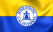 Flag of Riverside, USA.  — Stock Photo