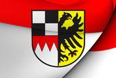 флаг средней франконии, германия. — Стоковое фото