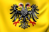 Flag of Holy Roman Empire (1400-1806) — Foto Stock