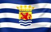 Flag of Zeeland, Netherlands.  — Stock Photo