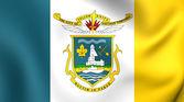 Flag of Yellowknife, Canada.  — Stock Photo