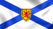 Flag of Nova Scotia, Canada.  — Stock Photo