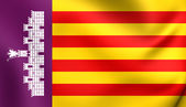 Flag of Majorca, Spain. — Stock Photo