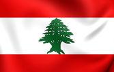 Flaga libanu — Zdjęcie stockowe