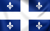 Flag of Quebec Province — Stockfoto