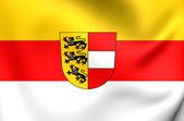 Flag of Carinthia, Austria.  — Stock Photo