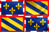 Drapeau de la bourgogne, france. — Photo