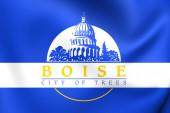 Boise, ABD bayrağı. — Stok fotoğraf