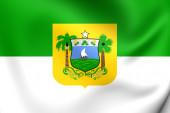 Rio Grande do Norte Flag, Brazil.  — Stock Photo