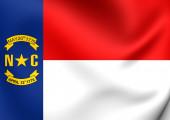 Flag of North Carolina, USA.  — Stock Photo