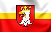 Flag of Krakow County, Poland.  — Stockfoto