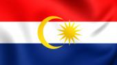 Флаг в Лабуане, Малайзия. — Стоковое фото
