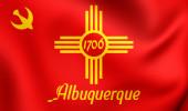 Flag of Albuquerque, USA.  — Stock Photo