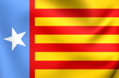 Flag of the Valencian Nationalism — Stock Photo