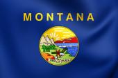 Bandiera del montana, usa. — Foto Stock