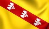 Flag of Lorraine, France.  — Stock Photo