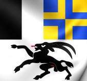 Flag of Graubunden, Switzerland.  — Stock Photo