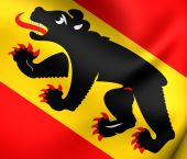 Flag of Bern Canton, Switzerland. — Stock Photo