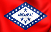 Bandiera dell'arkansas, usa. — Foto Stock