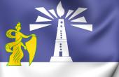 Flag of Alexandria, Egypt.  — Foto Stock