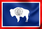 Flag of Wyoming, USA.  — Stock Photo