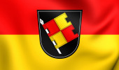 Flag of Wurzburg, Germany. — Stock Photo