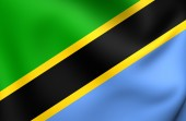 Flag of Tanzania — Stock Photo