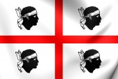 Flag of Sardinia, Italy.  — Stock Photo