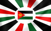 Royal Standard of Jordan — Stock Photo