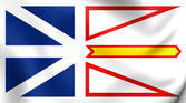 Flag of Newfoundland and Labrador, Canada.  — Stock Photo