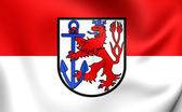 Flag of Dusseldorf, Germany.  — Stock Photo