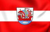 Flag of Bremerhaven, Germany.  — Stock Photo