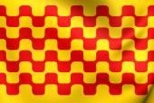 Flag of Tarragona City, Spain.  — Stock Photo