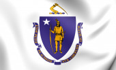 Flag of Massachusetts, USA.  — Stock Photo