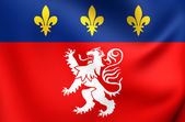 Flag of Lyon, France.  — Stock Photo