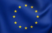 Vlajka evropské unie — Stock fotografie