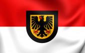 Flag of Dortmund, Germany.  — Stock Photo